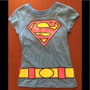 [dc comics] Super Girl T-shirt costume with cape